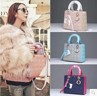 Free Shipping Genuine Leather Women Brand Handbags Shoulder Bags Designer Lady Fashion Colour Matching Top Messenger Bag