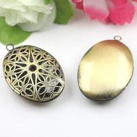 25*38*9mm DIY Fashion Necklace,Brass Pendant Bronze European style Prayer Craft Photo Frame Locket Box,Jewelry Finding 30pcs/lot