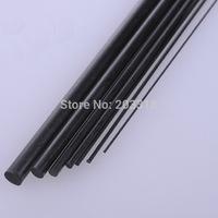Carbon fiber rods/carbon stick/DIY model accessories, Solid circular bar style,20mm/40mm length, 0.5/0.8/1/1.5/2/2.5/3 mm dia