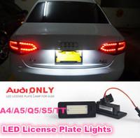 A4/A5/Q5/S5/TT/TTS  Auto License Plate Lights LED 12-30V White LED Super bright No Error Code No Alarm 2pcs/lot free shipping