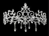 Cheap!!Gorgeous rhinestone crystal Queen hair tiaras Romantic wedding crown hair wear jewelry bride hair accessories