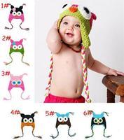 Children Handmade Manual Hat Crochet Hats Girls/Boys owl Knitted Hats Beanies Caps Infant Baby Photograph Props SJY197