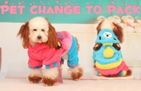 Lovely Coral Velvet Party Bears Warm Hooded Sweater Casual Sportswear Pet Dog Teddy Clothes Autumn Winter Clothing Apparel