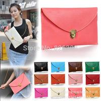 Great Gift 2014 New Leather Envelope Bag Cross Body messenger backpack lady handbag