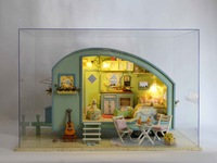 Creative novelty DIY cabins time travel hand-assembled model toy building house villa birthday Children Friend Christmas gift