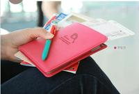 Hot sell short design Passport bag documents bag multi-functional travel passport holder passport cover wallet