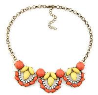 Simply Folral Bib Necklace Vintage Faux Stone Choker Necklace Fashion Statement Jewelry  BJN8160