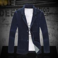 free shipping 2014 autumn new upscale men suit jacket hot sale Large size 5XL casual slim cowboy suit coat
