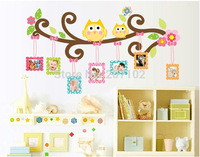 [Saturday Mall] - 60x110cm(24x43in) new DIY cartoon owls wall stickers for kids room decals decor home removbale pvc 1030