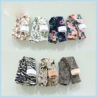 5pcs/lot autumn winter new arrival girls warm fleece floral leggings kids fleece boot cut 374