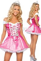 Free shipping Enchanting Princess Belle Costume 2014 Women Wholesale 10pc/lot Halloween Fancy dress costume 8843