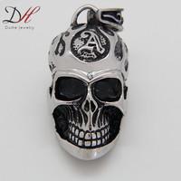 Big Sizes Super Skull Pendant Men's Rings Heavy Metal Biker 316L Stainless Steel for Men and Women,PD0796