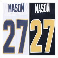 Cheap Stitched Custom Men's American Football Jersey #27 Tre Mason Elite Jersey,Accept Drop Shipping
