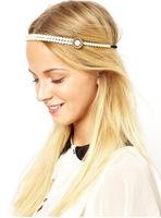 Elegant Faux Pearl Headband New Fashion Hairband Brand Hair Jewelry Hair Accessory  BJH907079