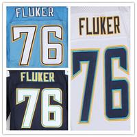 Cheap Stitched Custom Men's American Football Jersey #76 D.J. Fluker Elite Jersey,Accept Drop Shipping