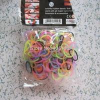Mix-20 Free Shipping Mix Color DIY Loom Bands Bracelet 300pcs/bag including simple tools
