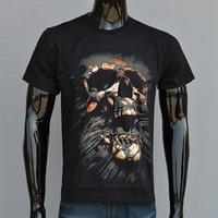 4M203 100% cotton 3d magma skull bloody ghost Good Quality print men apparel t shirt Brand Burton fitness slim fit t-shirts