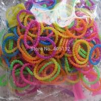Mix-19 Free Shipping Mix Color DIY Loom Bands Bracelet 300pcs/bag including simple tools