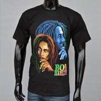 4M202 3d men t shirt 100% cotton band Bob Marley hip hop tee shirt for men new 2014 in camisa masculina fashion male shirt