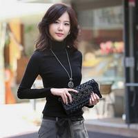 New 2014 Fashion T Shirt Women Casual Slim Crop Top Warm Base Women Clothing