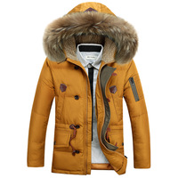 Men Hooded Down jacket 90% White Duck  Thicken Warm Long  overcoat Large Down Coat Size M,L,XL,XXL,XXXL