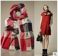 2014 new desigual women scarf classic plaid shawl With logo and  tag