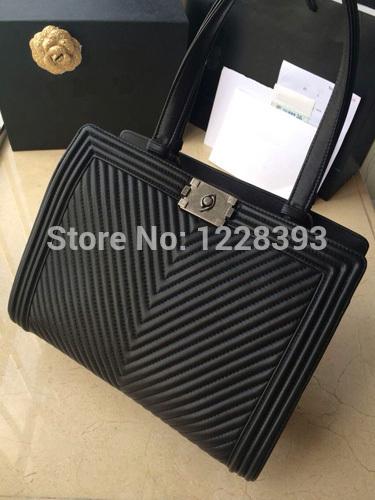 Asidun 2014/15 Winer New Fashion The imported Calf Skin Genuine Leather Boy Herringbone stitch Women Shopping bag Handbag(China (Mainland))