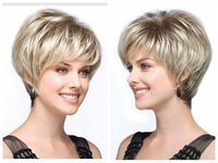 Women's Fashion Wig Natural Straight Short Hair Short  no Lace Front queen brazilian made wigs