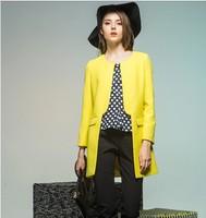 2014 Hitz female long-sleeved jacket and long sections windbreaker jacket suit Europe  NDZ202 Y9W