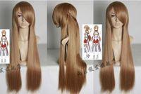 sword of God domain Ya Sina Asuna Yuuki Browns Cosplay Wig 100CM no Lace Front queen brazilian made wigs