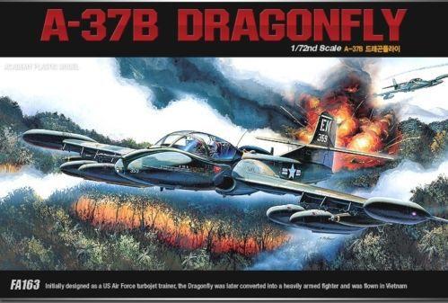 Academy 12461 1/72 A-37B Dragonfly Attack Aircraft Plastic Model Kit Free Shipping(China (Mainland))