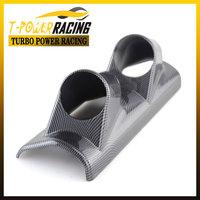 """2""""(52mm) Universal  Carbon Fiber A Pillar Pod 2 Hole Gauge Holder  Pod Drivers Side /gauge pod/ gaugepilliar"""