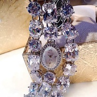 Lady Wrist Watch Quartz Hours Best Fashion woman Dress Bracelet Full Large Crystal Luxury Rhinestones Bling Gift 2722