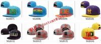 26 pcs/lot Free shipping! factory wholesale snapback cap plain flat peak basketball snap back hats Mix and Match