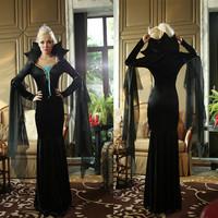 2014 luxurious black vampire long skirt Halloween Halloween dress witch queen   9229