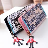 2014 new Korean temperament fashion tide wrist band free shipping small zipper Long Wallet