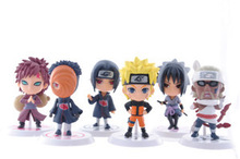New 2014 Action Toy Figures 6pcs/sets naruto Q version PVC Action Figure Collectible Model Toy nendoroid,Russia Australia(China (Mainland))