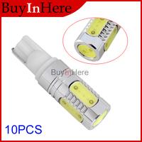 10PCS Car Vehicle 7.5W T10  LED License Door Light Plate White Bulb Lamp High Power Auto Driving Backup Reverse Xenon Wedge