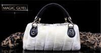MAGIC Big promotion New winter handbag high-grade rabbit hair Soft handle bag European and American lady bag oblique satchel ba