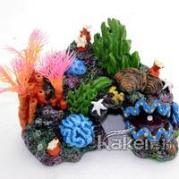 Fish tank aquarium decoration packages a full coral conch shells rockery fake tree,aquarium accessories coral,aquario
