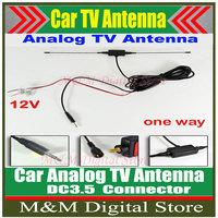 DC3.5 Connector Car analog TV antenna with built-in signal amplifier Car TV antenna Car Analog antenna Car Analog Antenna