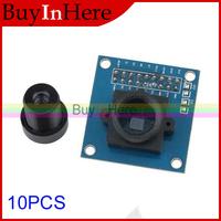 10PCS VGA OV7670 Cmos Ov7660 Camera Module 640X480 SCCB Compatible 300kp with I2C Interface