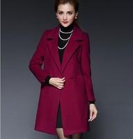 High quality brands fashion winter thickening overcoat contracted slim overcoat woolen outerwear women coat coat women big size