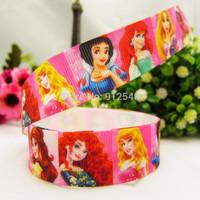 1493191,22mm Princess  Series Printed grosgrain ribbon, DIY handmade materials,headwear accessories