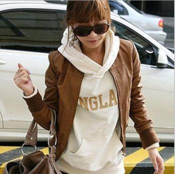 Brand Hotsale Korean O Necks Leather Military Короткий Jacket Quality Guaranteed ...