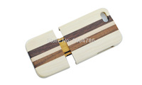 For Apple5 5s Real Natural Wood Wooden Bamboo Hard Back Case Cover For  Bamboo. Color Shuangpin For iPhone5 5s New. Wholesale!