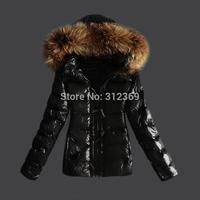 2014 New Arrival Brand Fashion Lady Down Parkas Women Down Coat Short Warm Fur Collar More Zip Ladies Down Jacket Free Shipping