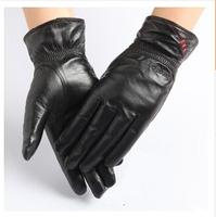 Winter  2014 latest design europe styles warm cold winter sheepskin woolen leather gloves-086