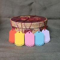 100pcs 4.5*7cm wedding tags Blank colorful DIY Gift packing decoration Hang tags(no rope) scrapbook cards making baking labels