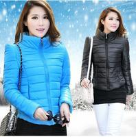 Winter 2014 Fashion Plaid Women Down Jacket Slim WInter Coat Womens TOps Outwear
